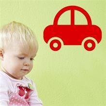 Wallsticker Bil til børneværelset