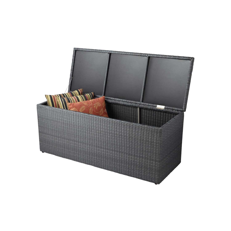 Resin Wicker Outdoor Storage Trunk