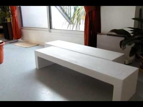 comment faire une table basse avec du b ton cellulaire. Black Bedroom Furniture Sets. Home Design Ideas