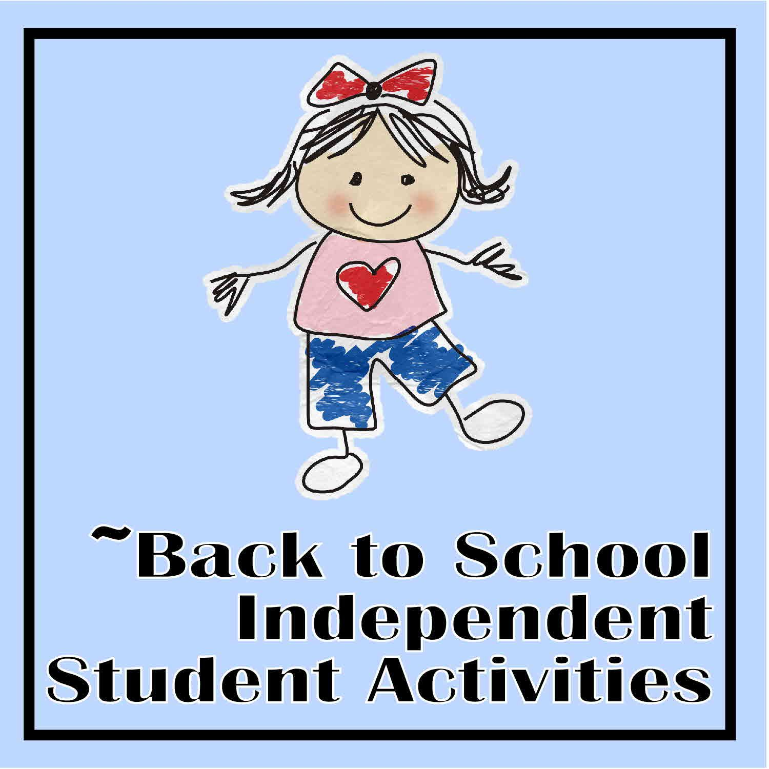 Great independent work for times when the teacher is doing assessments the first week of school.  Wonderful for first and second graders, but some activities could be used for kindergarten classes too.  Keep checking this site often - new Back to School activities are being posted daily!