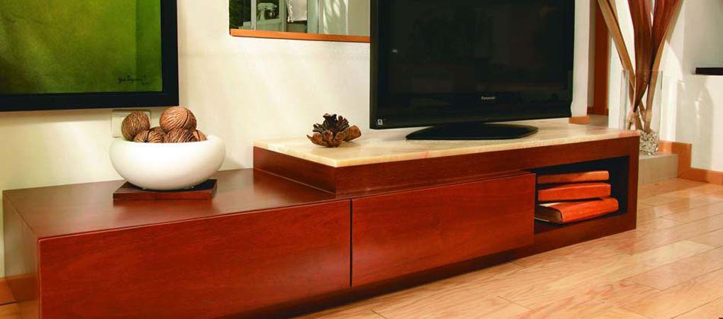 MUEBLE TV CELINA Mueble para Televisor y accesorios, en madera cedro - muebles para tv