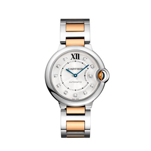 0e342e70605 Cartier Ballon Bleu 18K Yellow Gold   Stainless Steel Diamond 36MM Watch