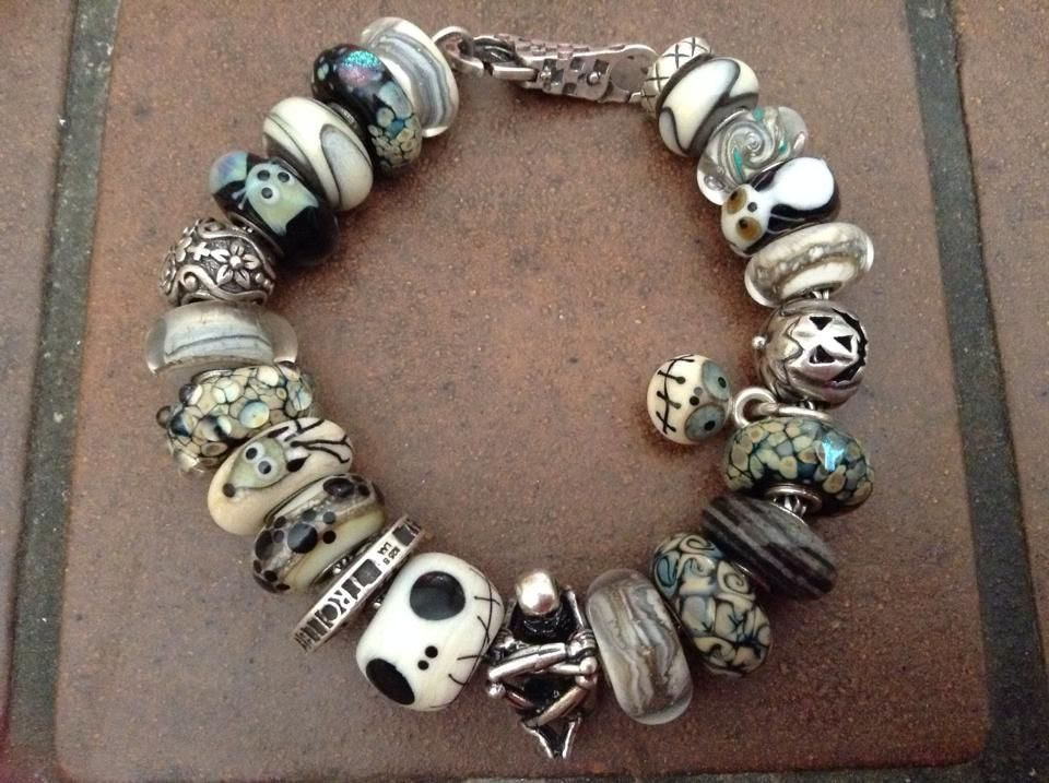 amazing tim burton themed bracelet here with glass by trollbeads and glass bonbon the colour
