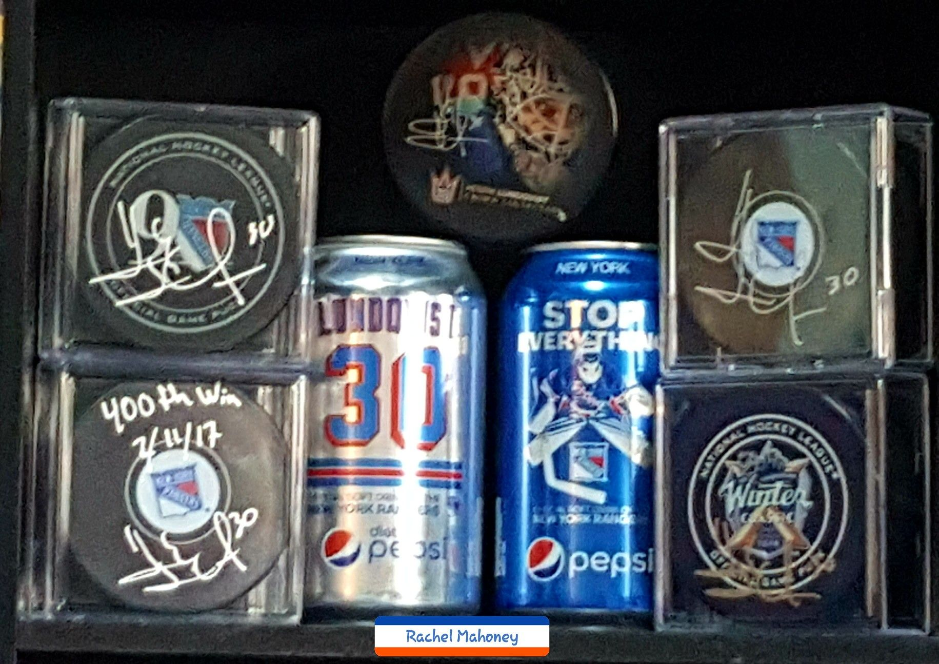 Pepsi Cans Pucks Lundqvist 4ever Nyr King Canning Pepsi Rc Cola