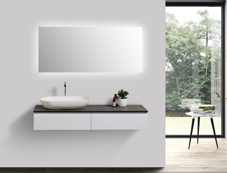 Gut Badmöbel Vision 1200 Weiß Matt   Spiegel Und Aufsatzwaschbecken Optional  Badewelt Badmöbel Badmöbel Set Weiß