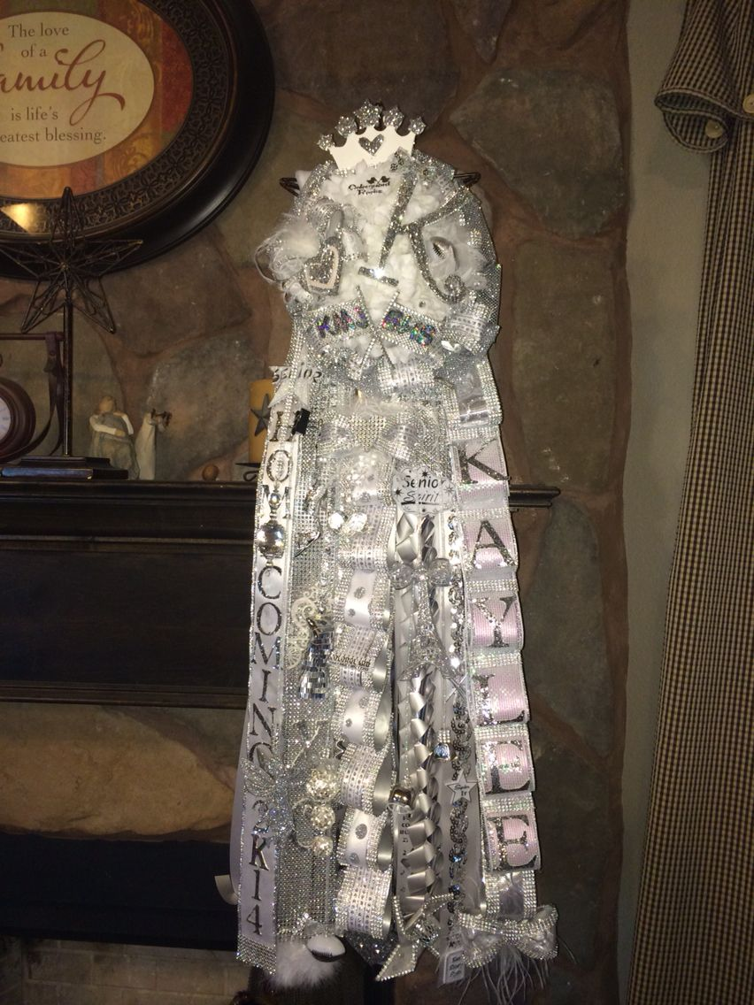 Senior Homecoming Mum White And Silver Hope She Loves It