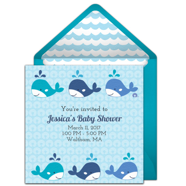 Free Baby Whale Watch Invitations Baby Whale And Ocean Party