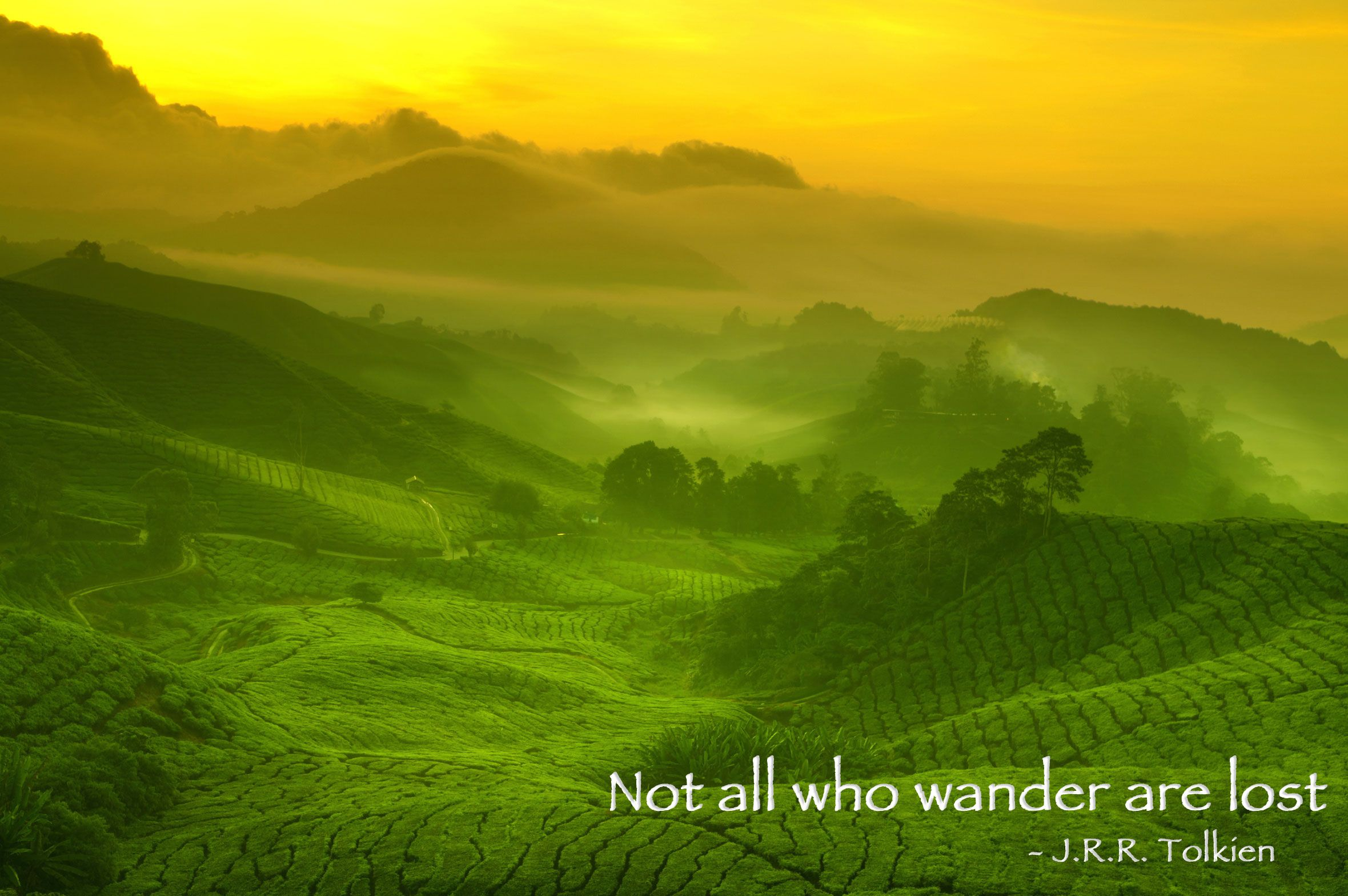 Not all who wander are lost. J.R.R. Tolkien The Soul's