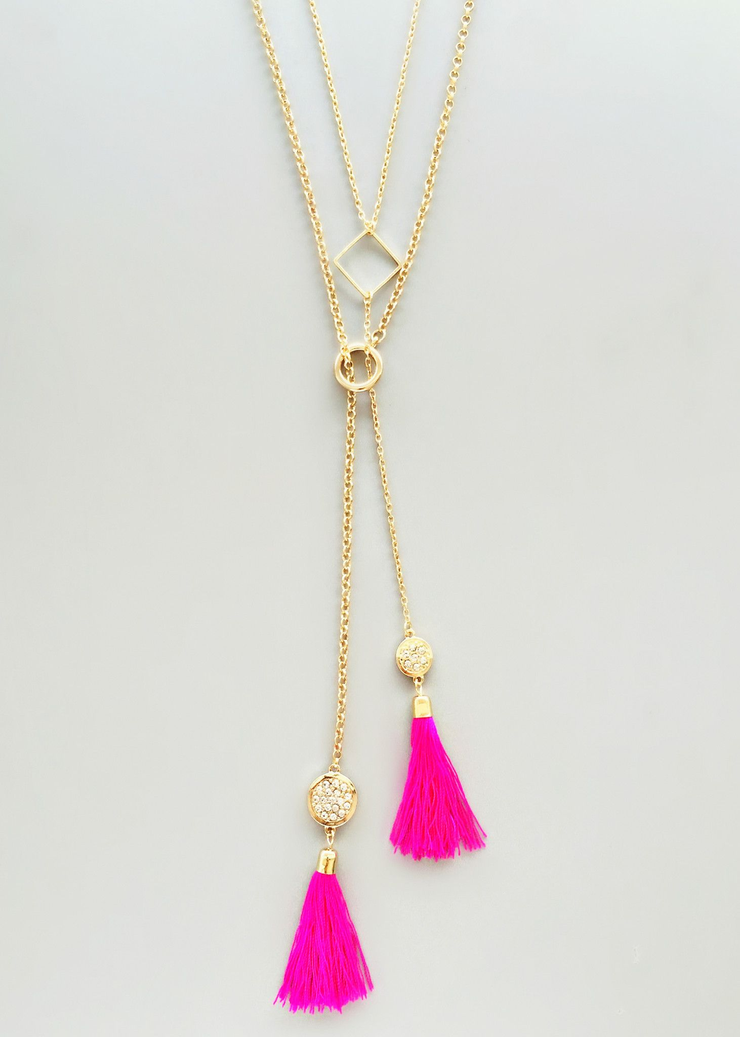 hot pink tassels necklace – pree brulee | necklaces & earrings