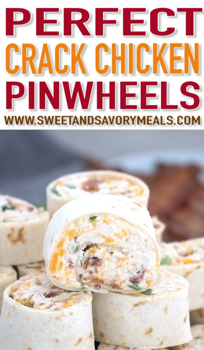 Bacon Cheddar Ranch Pinwheels (VIDEO) - Sweet and Savory Meals #fingerfoodappetizers
