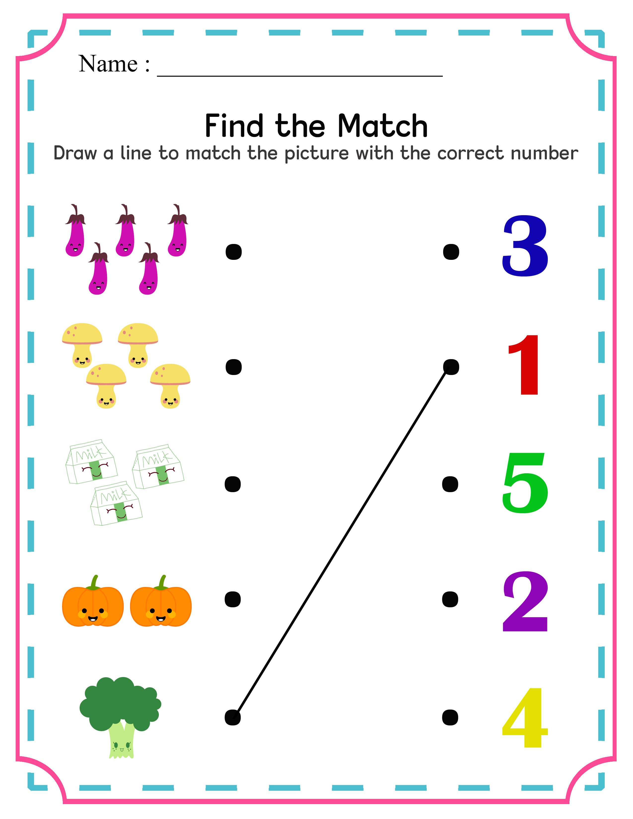 Free numbers 110 activity worksheets numbers 1 10