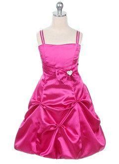 d54873272c3 A-Line Princess Sweetheart Tea-Length Satin Flower Girl Dress With Ruffle  Beading Bow(s)