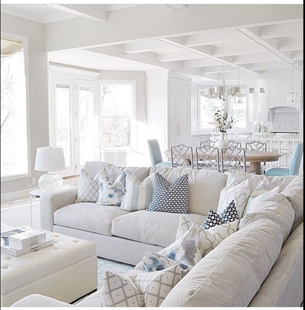 Beautiful Open Floor Plan Beach House Living Room Living