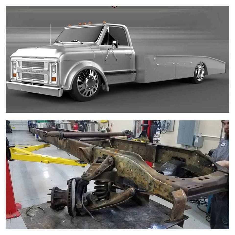 Truck chevy c10 project trucks : How about this cummins powered Chevy truck for a car hauler in ...