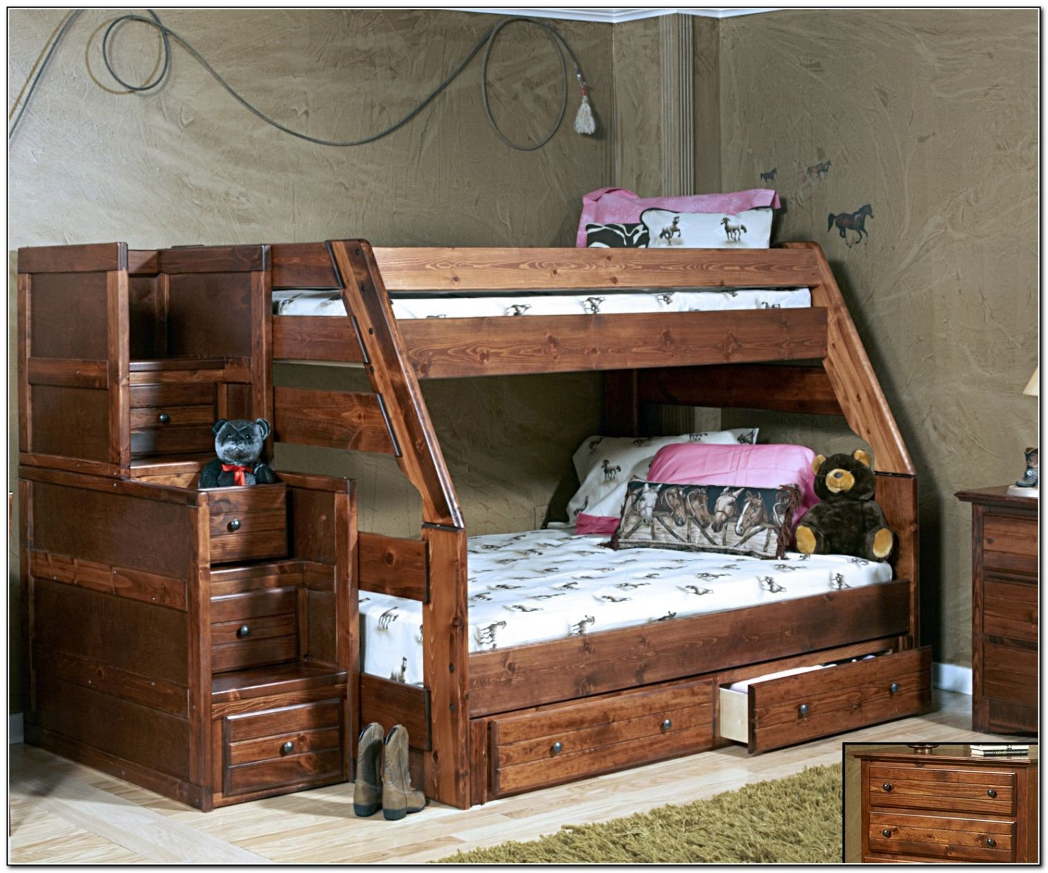 Loft bed plans with stairs  Twin Over Full Bunk Bed Plans with Stairs  Favorite Interior Paint