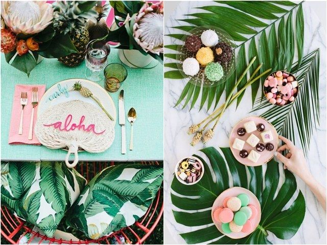 Tropical Bridal Shower: 30 Chic Aloha Tropical Bridal Shower Ideas