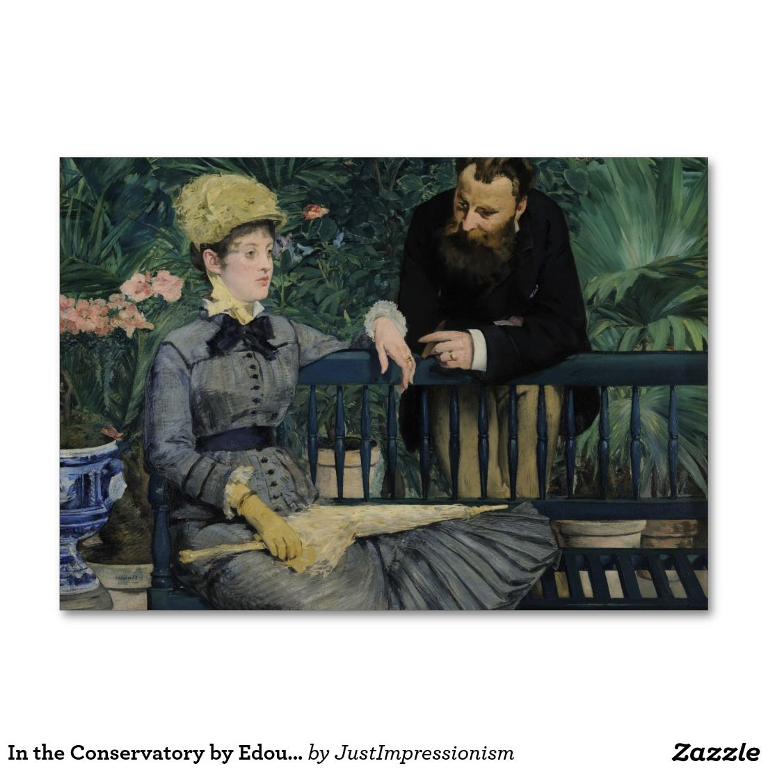 In the Conservatory by Edouard Manet Table Cards