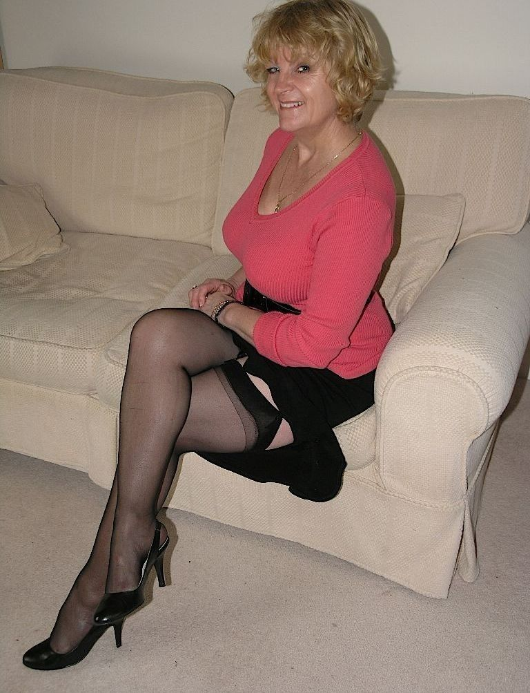 Mature therapy in stockings