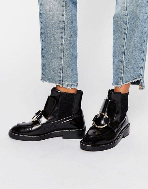 ASOS ANTOS Leather Chelsea Ankle Boots at asos.com