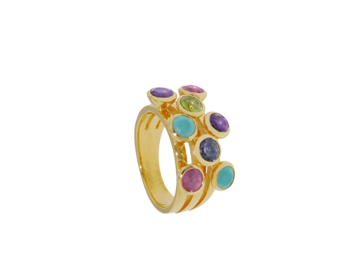 Gold vermeil triple tier #ring by #Missoma  Beautiful colours