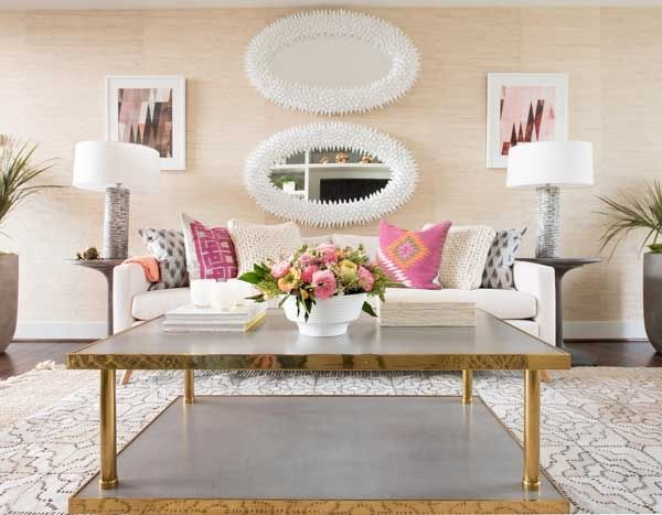 Colorful Throw Pillows in Living Room