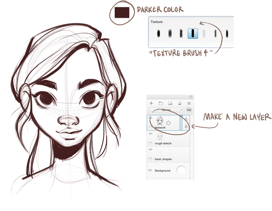 How to Draw Female Faces — Beautiful, symmetrical female