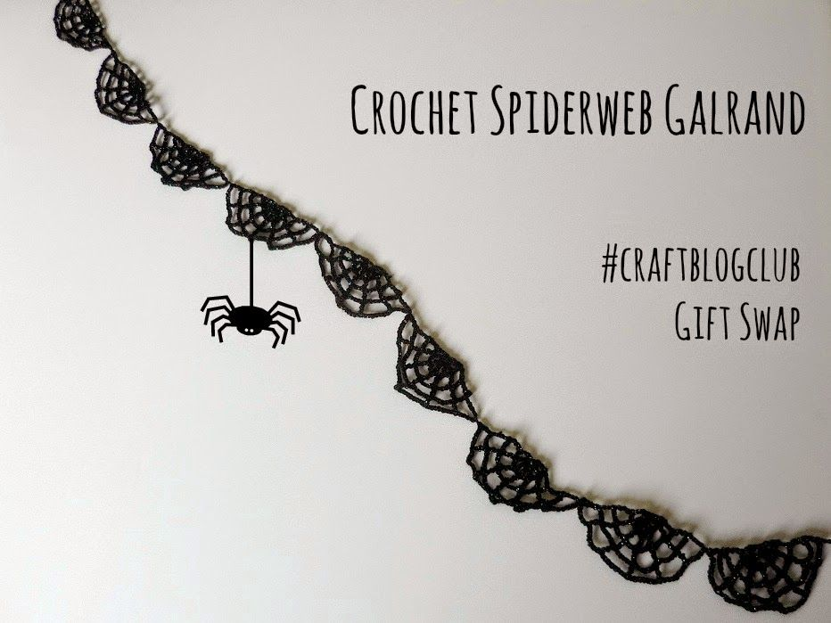 Crochet Spiderweb Garland (Abso-knitting-lutely!) | Guirnaldas ...