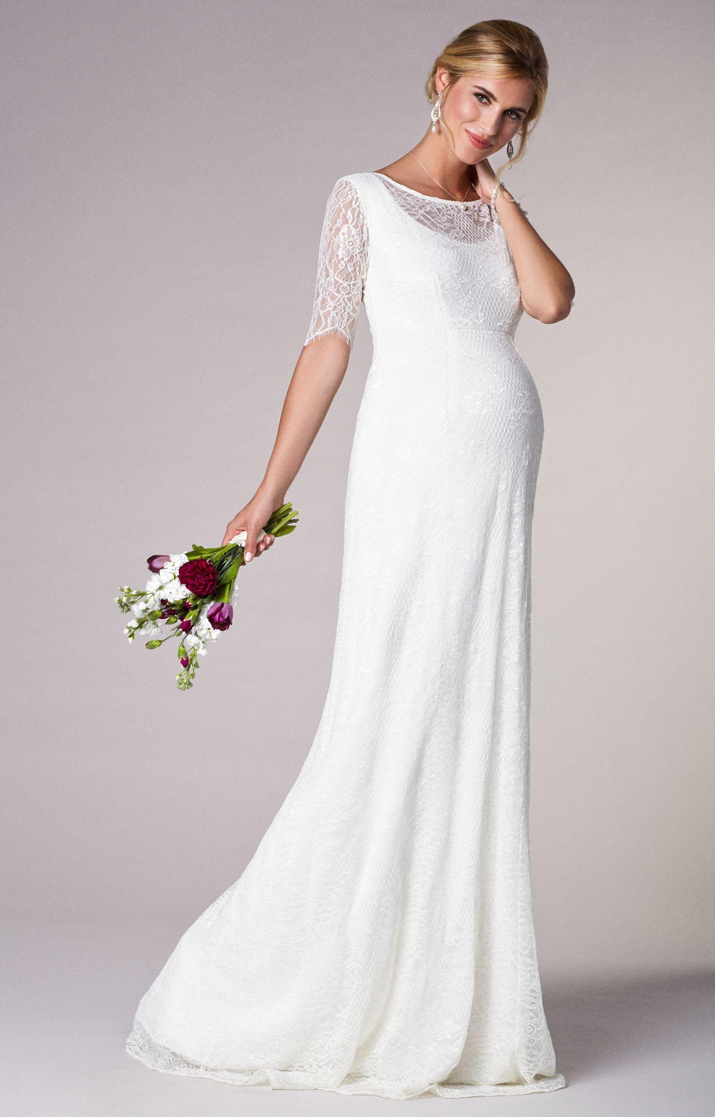 2bd074c74de70 Evie Lace Gown | maternity options | Pregnant wedding dress ...
