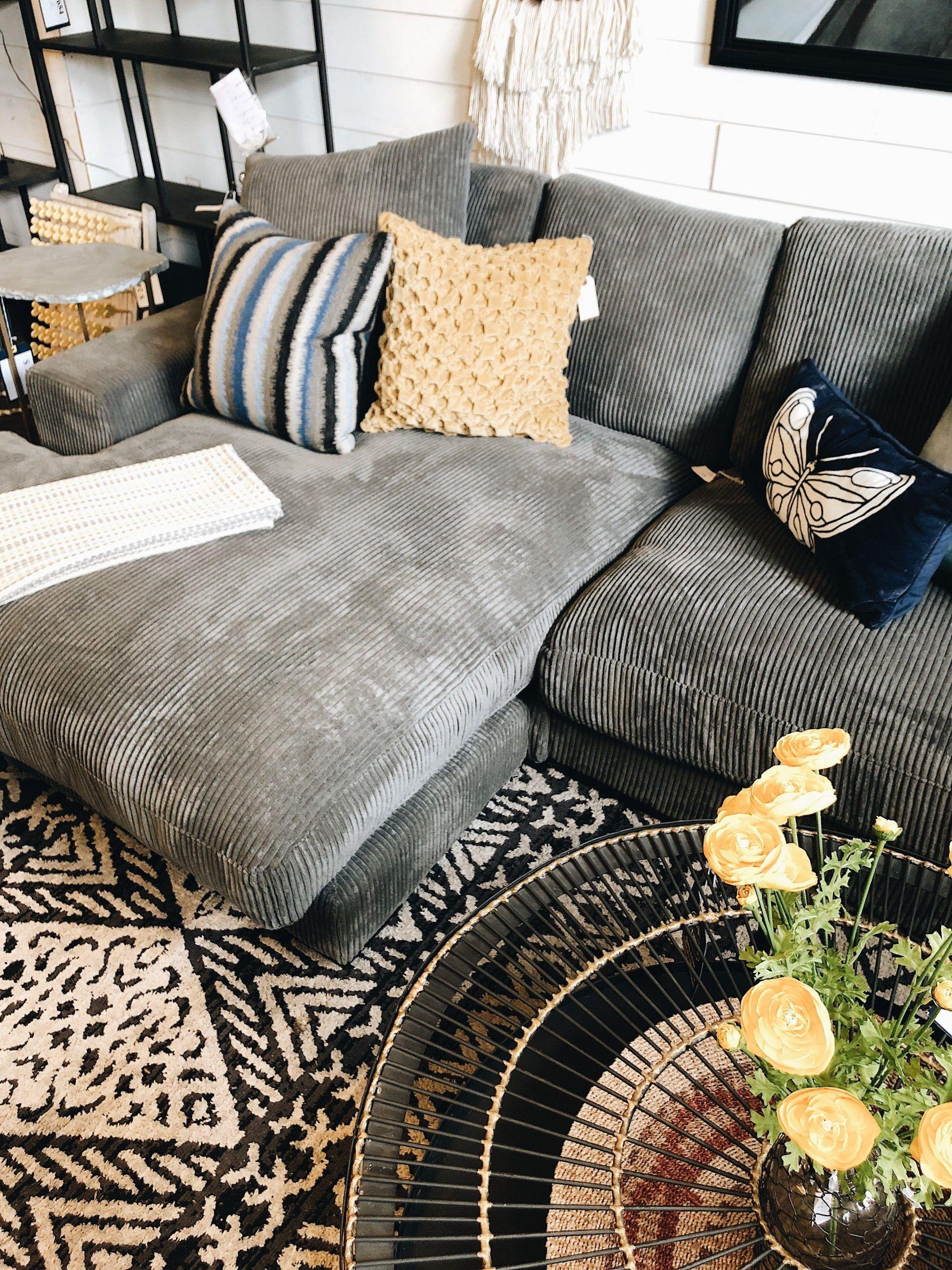 Deep Sectional Sofas Living Room Furniture Plunge Corduroy