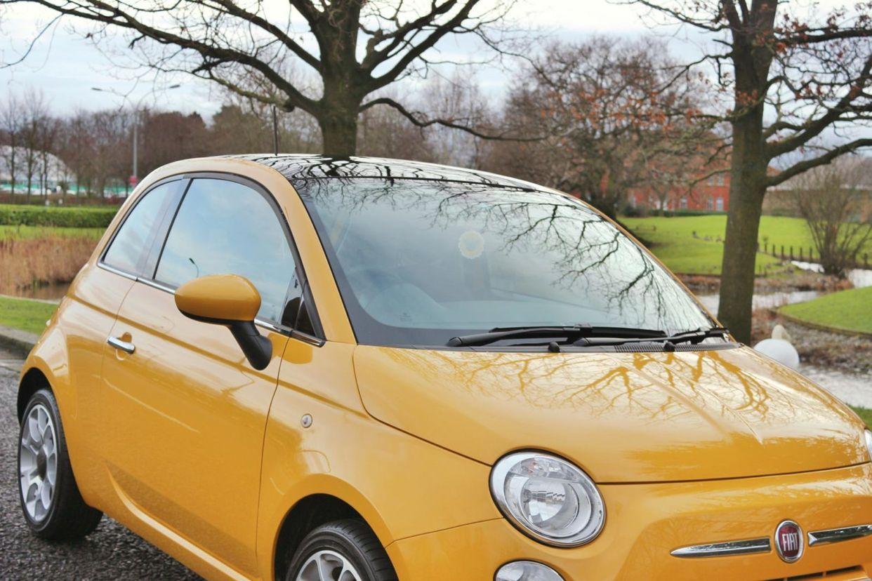 My New Car Fiat 500 Lounge Countrypolitan Yellow Lily Kitten Motori