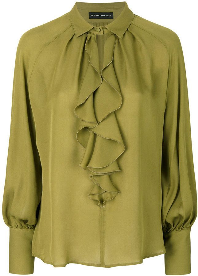 Etro ruffle blouse #blousedesigns