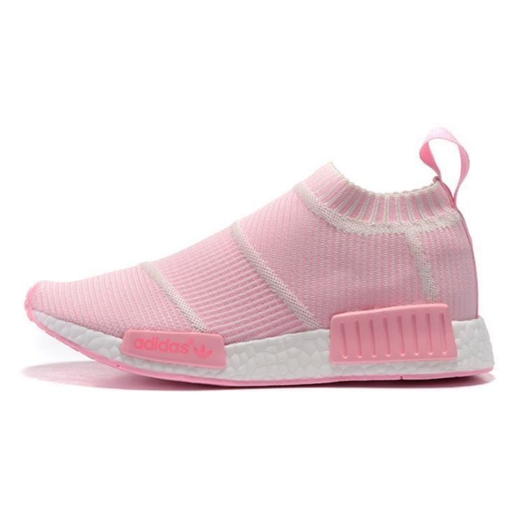 2016 Adidas Originals NMD Mid City Sock white pink S79153 Womens shoes