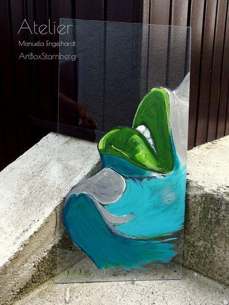 Acrylmalerei - Switch-Gemälde: Waiting vor a Kiss - ein Designerstück von…