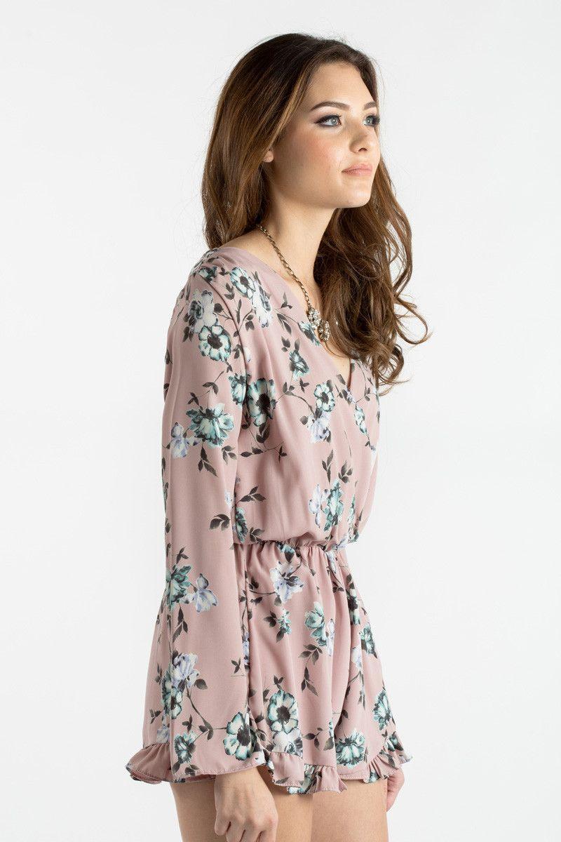 c073b9ff7e7 Pink Floral Romper