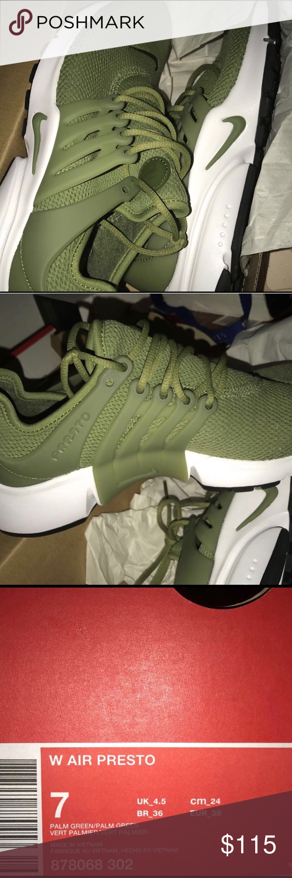the latest 149bb 79369 More Pins Like Nike Air Prestos BRAND NEW OLIVE GREEN NIKE PRESTOs Nike  Shoes Athletic Shoes ...
