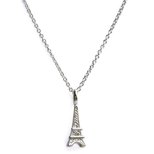 Shop this simple darling and understated sterling silver eiffel shop this simple darling and understated sterling silver eiffel tower necklace at marquis jewelers aloadofball Image collections