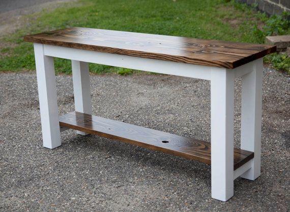 Solid Wood Sofa Table  Entryway Table  Buffet Table  Built to Order  Farmhouse Sofa Table  Rustic Sofa Table
