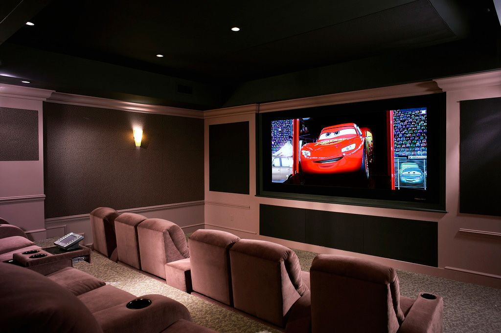 Delightful Home Cinema   Wikipedia, The Free Encyclopedia I Canu0027t See Dark Ceilings In  That Low Basement, But The Color Combination Is Intriguing. | Pinterest |  Room ... Nice Ideas