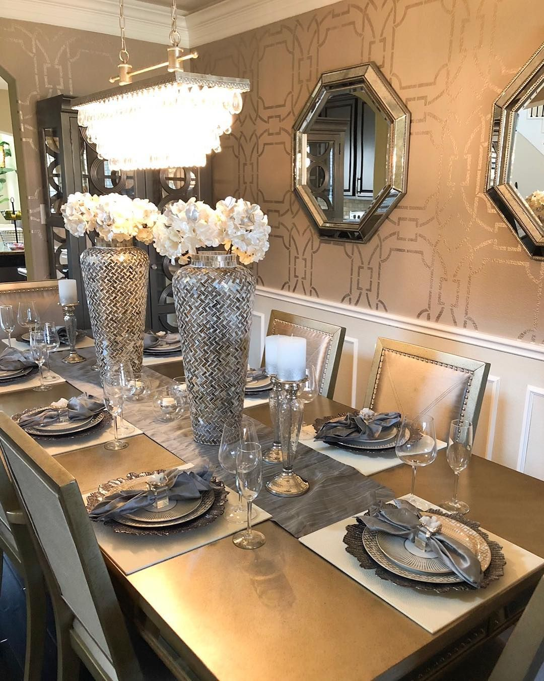 Fancy Dining For Eight Transforming This Dining Room Has Been So