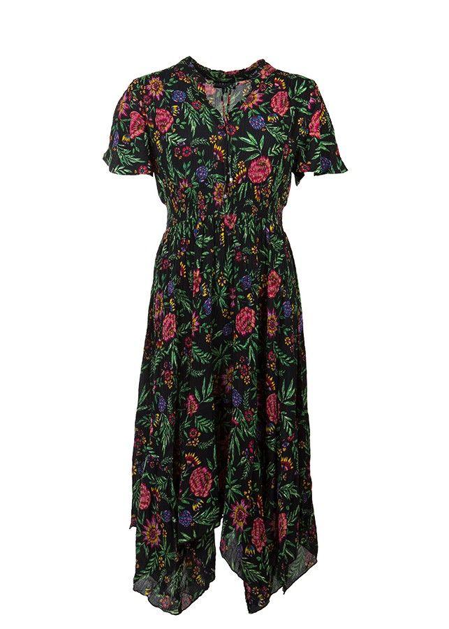 Langes Kleid mit Blumenmuster | Kleid blumenmuster ...
