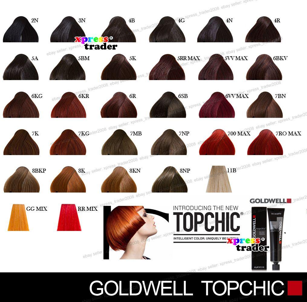Goldwell Chart Gingerheads Pinterest Hair Coloring