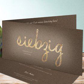 Einladungskarten 70. Geburtstag - selbst gestalten | Geburtstag | Pinterest | Einladungskarten ...