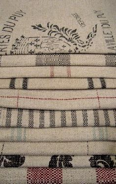 Grain Sack on Pinterest   French Linens, French Fabric and Miss ...