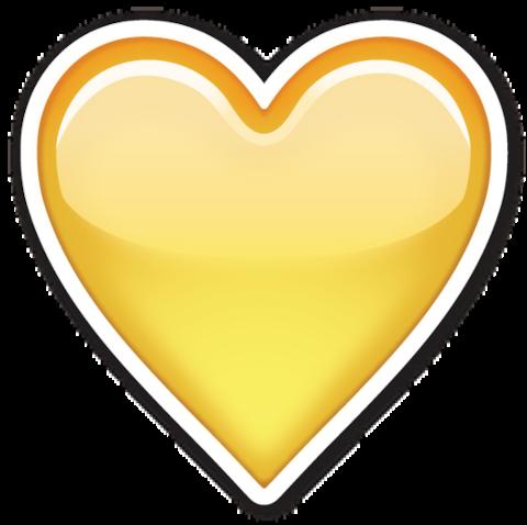 Yellow Heart Emoji stickers, Emojis and Clip art