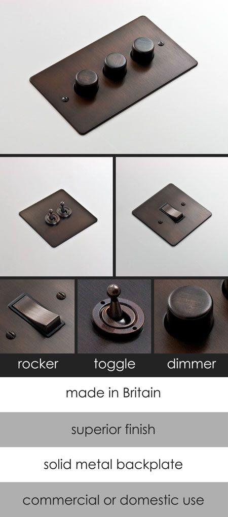 Dark Bronze Electrical Light Switch 126a Designer Light