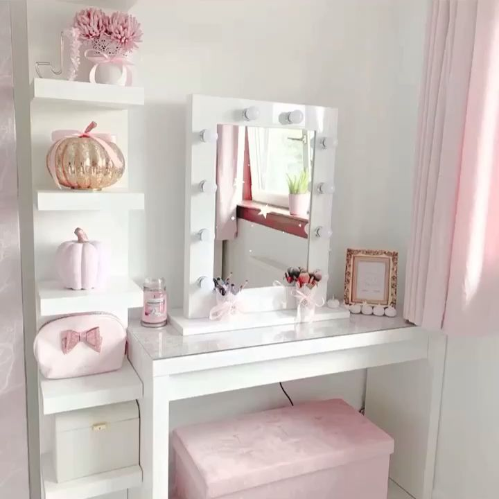 Photo of Julia Hollywood Mirror in White Gloss 80 x 60cm