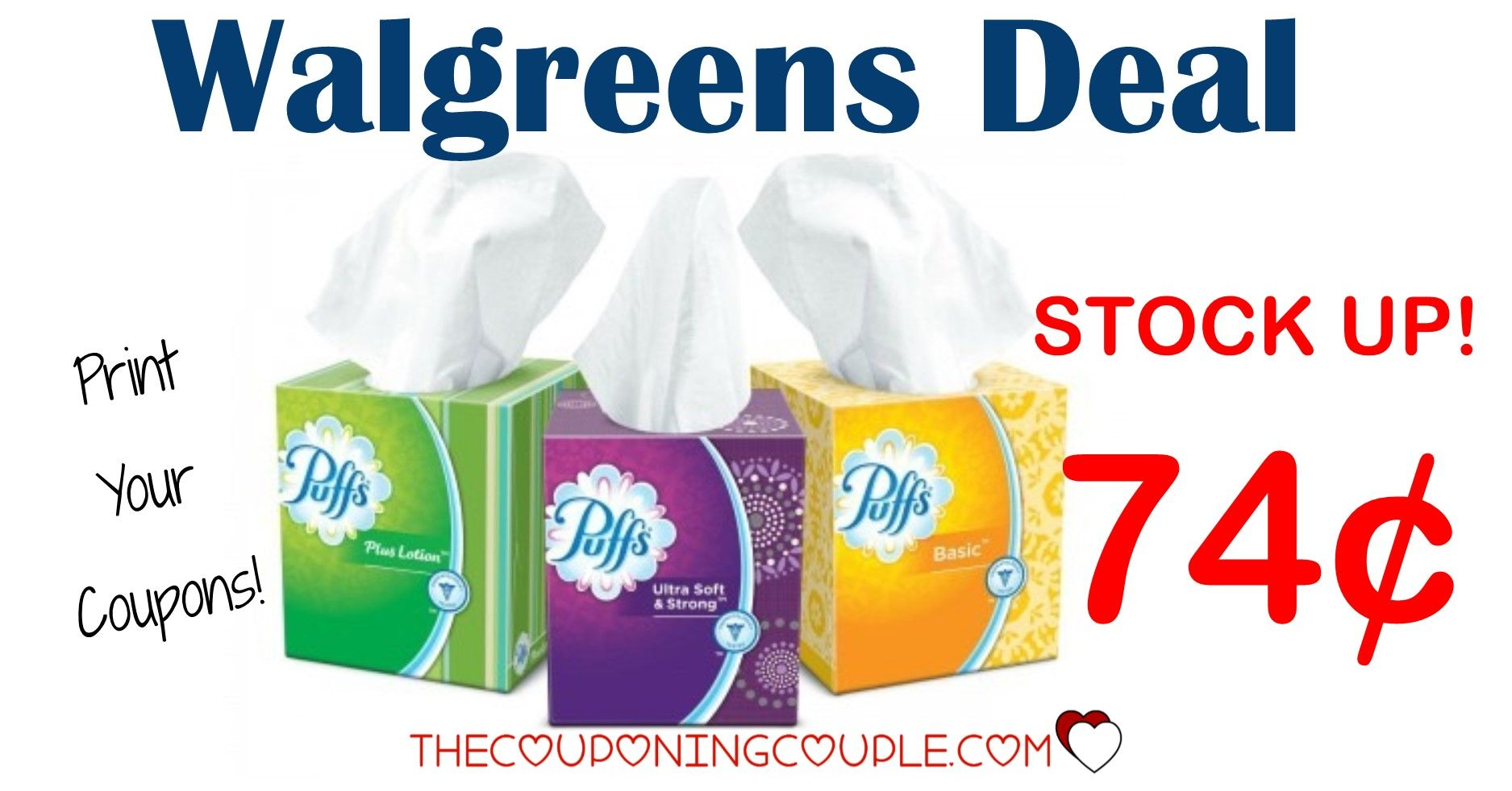 Puffs Facial Tissues Walgreens For 0 99 Thru 5 16 Facial Tissues Walgreens Coupon Matchups