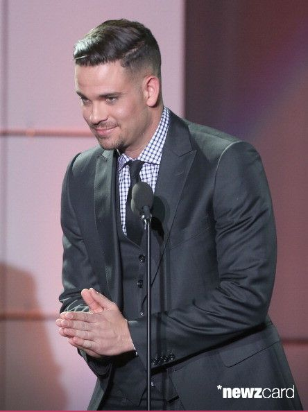 Actor Mark Salling speaks onstage at 'TrevorLIVE LA' honoring Jane Lynch and Toyota for the Trevor Project at Hollywood Palladium on December 8, 2013 in Hollywood, California.  (Photo by Frederick M. Brown/Getty Images for Trevor Project)