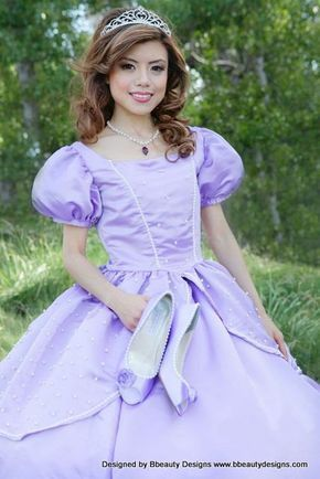 Sofia the First Princess Inspired Dress Gown - Adult Size with ...