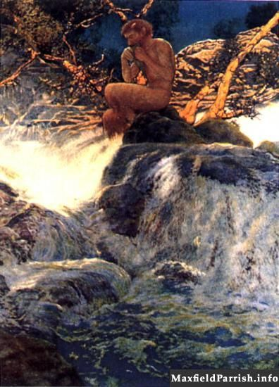 Errant Pan by Maxfield Parrish
